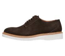 Veloursleder Schuhe braun