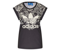 T-Shirt 'florido Tee' schwarz / weiß