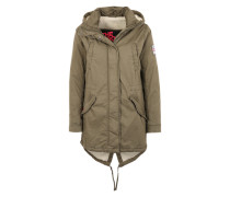 Kapuzenparka 'Winter Rookie Military Parka' grün