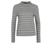 Gestreiftes Shirt im Layering-Look schwarz