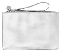 Metallic-Clutch silber