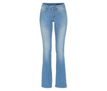 Jeans mit ausgestelltem Bein blau