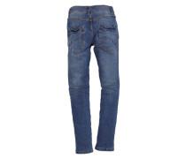 Skinny Seattle: Crinkle-Jeans blue denim