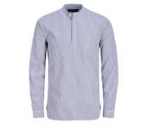 Lässiges Langarmhemd blau