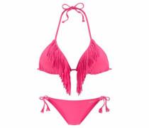 Triangel-Bikini dunkelpink