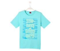 T-Shirt mit Wording-Print türkis / hellgrün