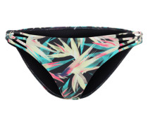 Bikinihose 'Paradise Tropic' türkis / pastellgelb / pink / schwarz