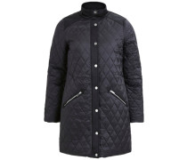 Gesteppter Mantel schwarz