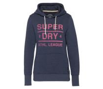 Sweatshirt 'Athl. League' dunkelblau / pink