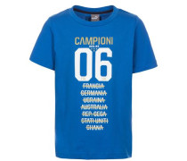 Figc Italien Tribute 2006 Graphic T-Shirt Kinder blau