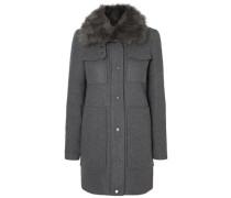 Mantel Woll- grau