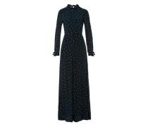Kleid 'Stand-up Collar Ruffle Dress' dunkelgrün