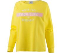 Sweatshirt Damen gelb