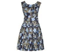 Dress Kleid mit floralem Muster hellblau / dunkelblau / oliv