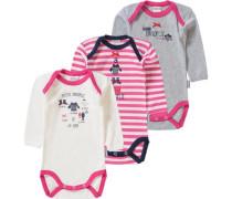 3er-Pack Bodys pink
