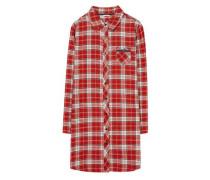 Nachthemd 'Dora' rot / naturweiß