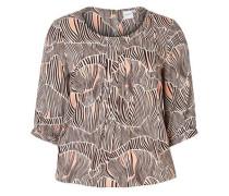 Bluse 3/4-ärmelige beige / braun / rosé