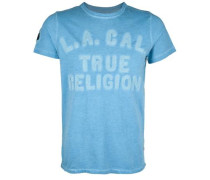 T-Shirt 'T Religion' blau