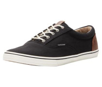 Leinen-Sneaker pueblo / schwarz
