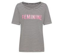 Shirt 'Femmy' schwarz / weiß