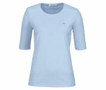 T-Shirt mit halben Ärmeln hellblau