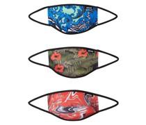 Stoffmasken 3er Pack 'Liquid Floral' mischfarben