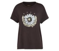 T-Shirt 'daisy eagle' dunkelbraun