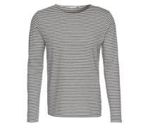 'Langarm Shirt' grau / schwarz
