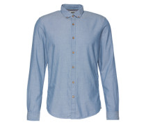 Hemd 'fitted shirt' blau