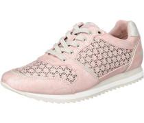Sneaker mit Strass-Besatz rosa