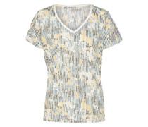 T-Shirt 'lades' blau / gelb / weiß