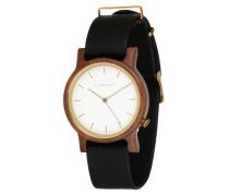 Uhr Wilma Walnut/Black schwarz