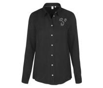 Fashion-Bluse ' Schwarze Rose ' schwarz