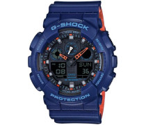 G-Shock Chronograph blau / orange