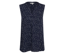 Casual Bluse dunkelblau / weiß