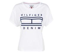 Sportliches Basic T- Shirt schwarz / weiß