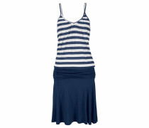 Strandkleid blau / naturweiß