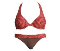 Bügel-Bikini braun / melone