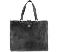 Leder Handtasche 'Saddlery Donna' schwarz