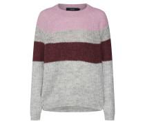 Pullover graumeliert / altrosa / weinrot