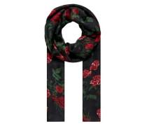 Schal mit Rosendruck mischfarben