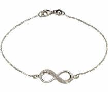Armband »Infinity« silber / weiß