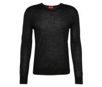 Pullover mit V-Ausschnitt 'San Carlo' schwarz