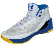 Curry 3 Basketballschuh royalblau / gelb / hellgrau