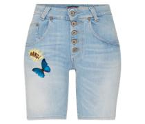 Jeansshorts mit Patches blue denim