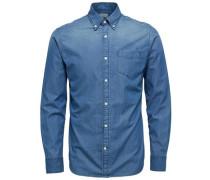 Slim Fit - Langarmhemd blau