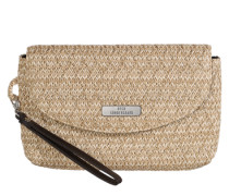 Stroh-Clutch 'Aly' beige