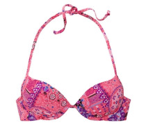 Push Up-Bikinitop 'Happy' lila / pink / weiß