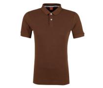 Poloshirt aus Baumwollpiqué braun