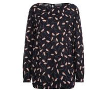 Bluse mit Allover-Print dunkelblau / mischfarben